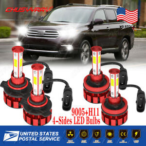 For Mazda CX-5 2013-2016 4PC LED Headlight Bulbs High & Low Beam Combo Kit 6000K