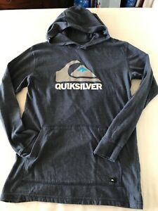 Quicksilver Youth T Shirt Hoodie Size XL (18-20) Blue TS9
