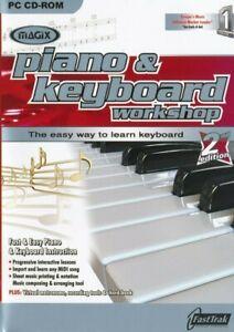 Magix Piano & Keyboard Workshop 2.0 - Music Teaching Tutor PC CD-ROM (NEW)