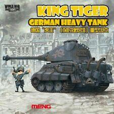 Meng World War Toons King Tiger Porsche Turret Heavy Tank Model Kit #WWT003