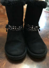 Justices girlsYouth size 1 boots Black Color