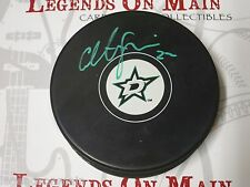 Colton Sceviour Dallas Stars Autographed Signed NHL Logo Puck COA (PK541)