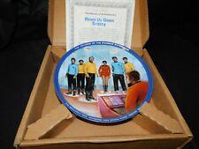 "Star Trek Hamilton Collection ""Beam Us Down Scotty"" Collector's Plate w/ Coa!"