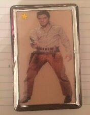 Collector Elvis Presley 2-clip Cigarette I.D. Case Business Credit Card Holder