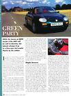 1996 MG MGF 1.8- Original Road Test Car Print Article J285