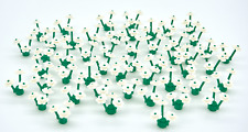 50 White Lego Flowers: 50 Green Grass Plant Stems & 150 Flower Petals on Sprues