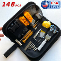 148PcS Watch Battery Change Repair Tool Band Pin Remover Back Case Opener Kit US