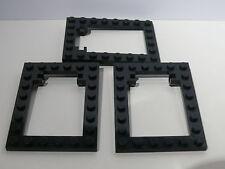 Lego 3 encadrements de trappes noirs set 4757 6763 5987 / 3 black trap frame
