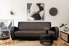 Echtleder 3 Sitzer Couch aufklappbar Schlaffunktion Echt Leder Sofa Ledersofa