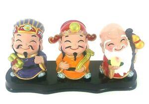 China 3 Longevity God Fu Lu Shou Life Statue 3PCS set