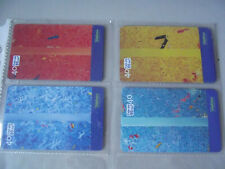 VERTICALS - Complete Set of 4 Different Phone Cards from Brazil