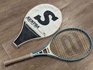 "SENTRA Ceramic Aqua Panther VII Graphite Strung Tennis Racquet 4 1/4"" Blue 1988"
