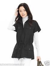badab5502e8 Banana Republic Womens Military Anorak Shirt Blouse Top Tunic Black M 8