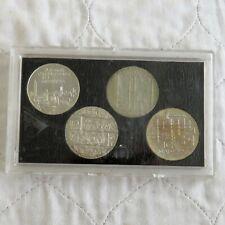 More details for finland 10 marrkka 1967 - 1975 commemorative 4 coin silver set  - cased