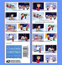 5030d Charlie Brown Christmas 2015 Imperf Booklet of 20 No Die Cuts 5021c-30c