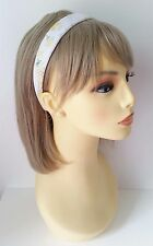 Gorgeous 2.5cm wide white & lemon flower pattern headband - aliceband * NEW *