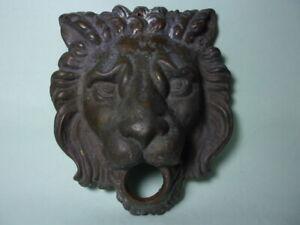 ANTIQUE CAST BRONZE 'LION MASK' FOUNTAIN HEAD.