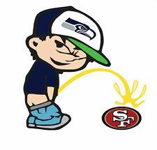 Seattle Seahawks Piss On San Francisco 49ers Sticker Vinyl Decal 4-763
