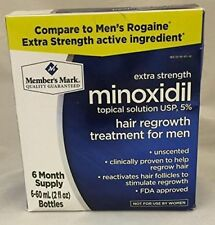 Member's Mark 6 Months Minoxidil 5% Extra Strength Men Hair Regrowth Treatment