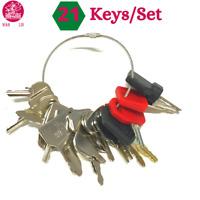 21 Keys Master Plant Key Set Digger Excavator Plant Dumper / Bomag JCB CAT Terex