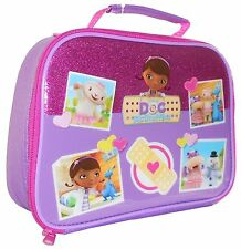 Disney Doc McStuffins Glitter School Rectangle Lunch Bag Insulated