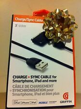 New Griffin Charge+Sync Cable for Smartphones or Apple Modern GC17117