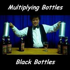 MULTIPLYING BOTTLES 10 BLACK BOTTLES & TUBES ALL HIGH QUALITY METAL MAGIC TRICK