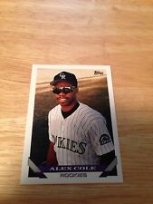 Topps 1993 Alex Cole #591 Colorado Rockies Major Leagues Modern (1981-Now)
