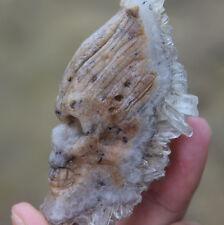 Crystal Skull  Natural Crystal cluster Crystal healing Carved crystal wand 85g