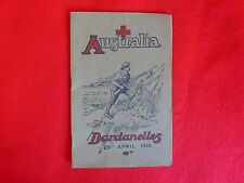 Australia At The Dardanelles, 25th April 1915, Australians In Action Gallipoli,