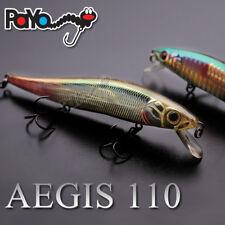 Leurre poisson nageur jerkbait Aegis 110 Oneten PAYO 11cm 14gr pêche brochet bar