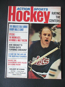 March 1973 Action Sports Hockey Magazine - Bobby Hull Cover