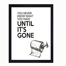 Funny toilet sign, funny loo print, funny toilet humour print,