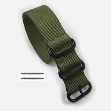 Heavy Duty Army Green Nylon Replacement Ballistic Military Watch Band Strap