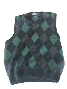 VTG Polo Ralph Lauren Argyle Sweater Vest, Mens XL, Lambswool