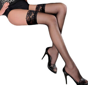 Sheer Hold Ups Stockings Gabriella Calze 15 size S-XXL