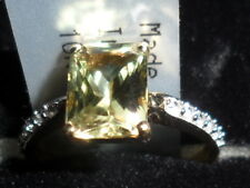100% NATURAL SIZE J-K CSARITE & ZIRCON (DIASPORE)9K GOLD RING 1.95CT SUPER RARE-