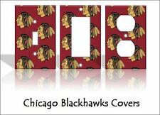 Chicago Blackhawks Light Switch Covers Hockey NHL Home Decor Outlet
