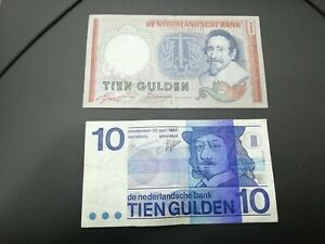 NETHERLANDS 10 GULDEN BANKNOTES 1953-1968