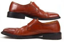 San Remo Platinum Monk Strap Brown Leather Made In Spain Shoes Size 8.5