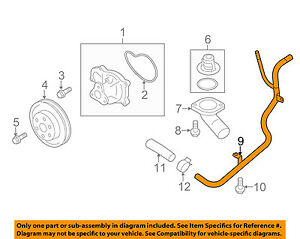 SUBARU OEM 13-14 Forester 2.5L-H4 Water Pump-By-pass Pipe 14050AA990