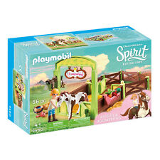 Playmobil 9480 Spirit Abigail & Boomerang with Horse Stall 56pc Play Set, Age 4+