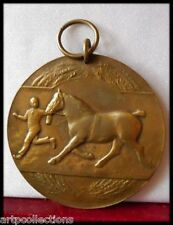 1945 MEDAILLE ANCIENNE BRONZE EQUITATION RIDING HORSE