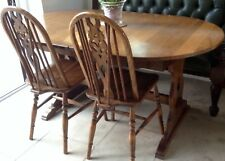Ercol Dining Room Table and 4 Chairs Extention