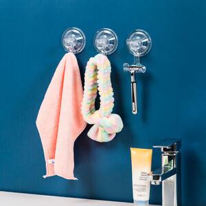 Reusable Suction Cup Hooks Heavy Duty Vacuum Hooks Glass Kitchen Bathroom HDEHF