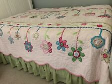 Pottery Barn Kids Girls Bedding Full/Queen Hand Stitched Quilt, Scalloped Edge