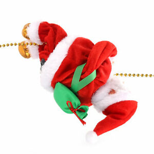 Animated Musical Santa Claus Electric Climbing Rope Up Down Tree Christmas Decor