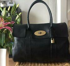 GENUINE MULBERRY BAYSWATER handbag shoulder bag black NVT leather