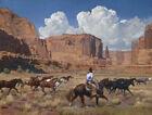 "Mark Maggiori THE REMUDA Art Print 26"" x 20"" Western Cowboy IN HAND"