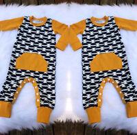 Newborn Baby Boys One Piece Bodysuit Harem Romper Jumpsuit Outfit Clothes 0-18M
